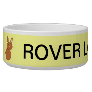Happy Easter Bunny Custom Dog Bowl
