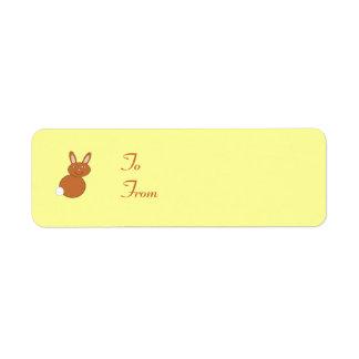 Happy Easter Bunny Custom Present Tags Return Address Label