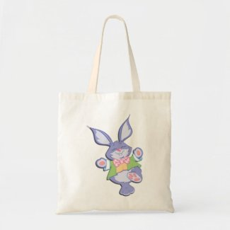 Happy Easter Bunny Dance Canvas Tote Bag