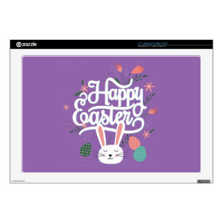 "Happy Easter Bunny Decal For 17"" Laptop"