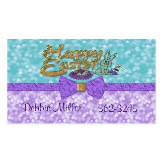 Happy Easter Bunny Double-Sided Standard Business Cards (Pack Of 100)