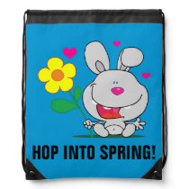 Happy Easter Bunny Drawstring Backpack