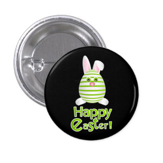 Happy Easter Bunny Egg Pinback Button
