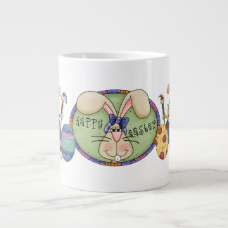Happy Easter Bunny Extra Large Mugs