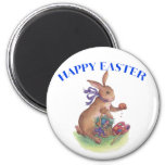 Happy easter bunny fridge magnets