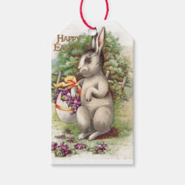 Vintage easter gift tags zazzle happy easter bunny gift tags negle Choice Image