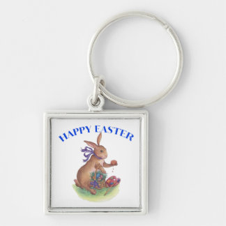 Happy easter bunny key chain