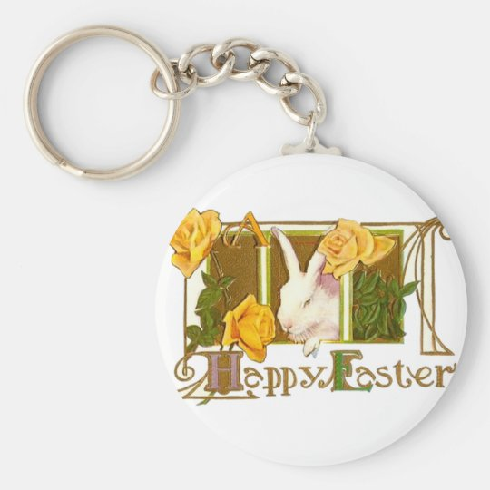 Happy Easter Bunny Keychain