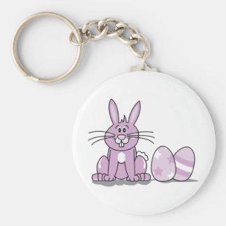 Happy Easter Bunny Keychain