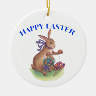 Happy easter bunny Ornament