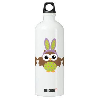 Happy Easter Bunny Owls Aluminum Water Bottle