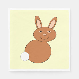 Happy Easter Bunny Paper Luncheon Napkins Standard Luncheon Napkin