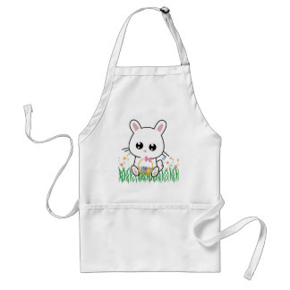 Happy Easter Bunny Pattern Adult Apron