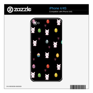 Happy Easter Bunny Pattern iPhone 4 Decals
