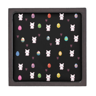 Happy Easter Bunny Pattern Jewelry Box