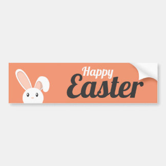 Happy Easter Bunny peeping Bumper Sticker