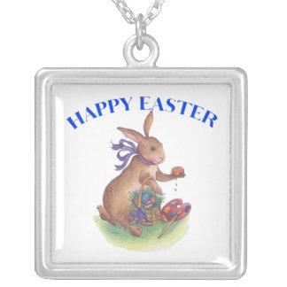 Happy easter bunny pendant