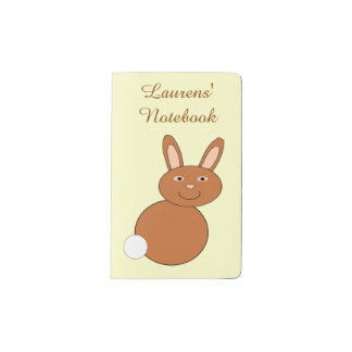 Happy Easter Bunny Personalized Pocket Moleskine Notebook Cover With Notebook