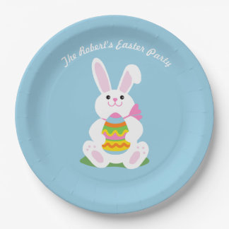 Happy Easter Bunny ~ Personalized Paper Plate