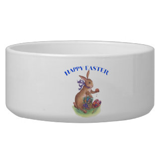 Happy easter bunny Pet Bowl