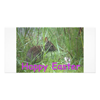 Happy Easter Bunny Photo Card