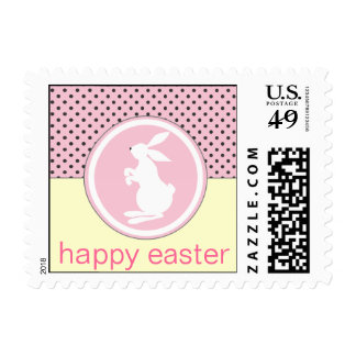 Happy Easter Bunny Pink Postage