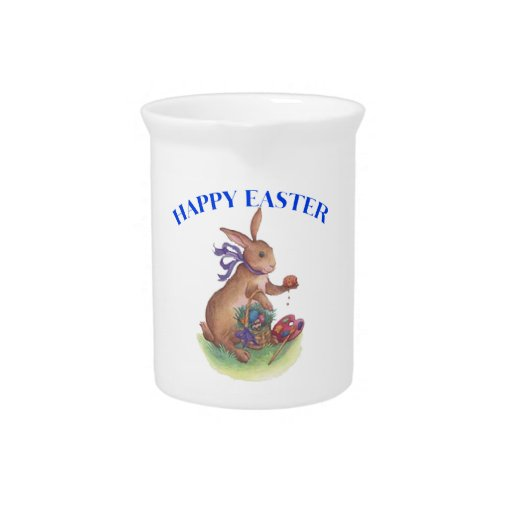 Happy easter bunny Pitcher