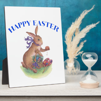Happy easter bunny Plaque