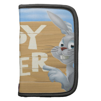 Happy Easter bunny pointing Planner