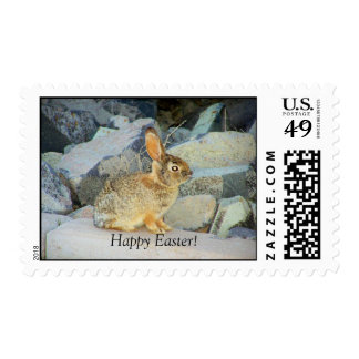 Happy Easter Bunny Postage Stamp