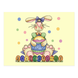 Happy Easter Bunny Postcards
