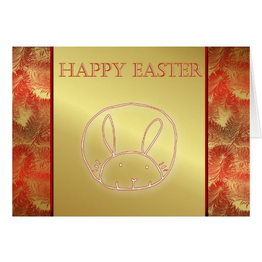 Happy Easter bunny rabbit easter eggs hare hoppy Card