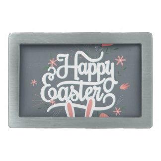 Happy Easter Bunny Rectangular Belt Buckle