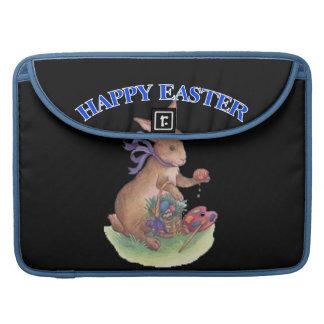 Happy easter bunny Rickshaw Flap Sleeve MacBook Pro Sleeves