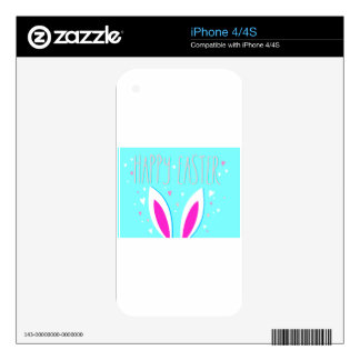 happy easter bunny skins for iPhone 4S