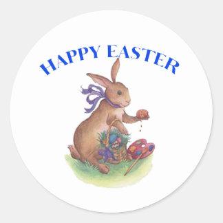 Happy easter bunny sticker