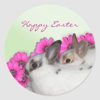Happy Easter Bunny Stickers sticker