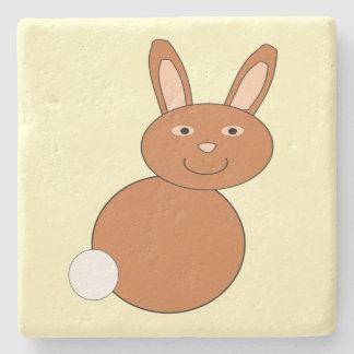 Happy Easter Bunny Stone Coaster