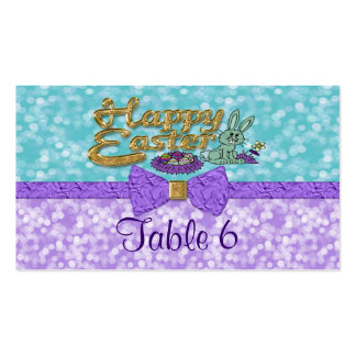 Happy Easter Bunny Table Double-Sided Standard Business Cards (Pack Of 100)