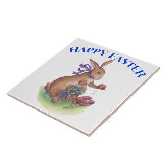 Happy easter bunny Tile