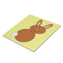 Happy Easter Bunny Tile
