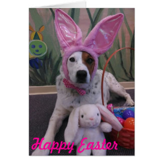 Happy Easter Bunny Up for Easter Luna Says Card
