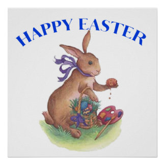 """Happy easter bunny Your Poster 24x24"""""""