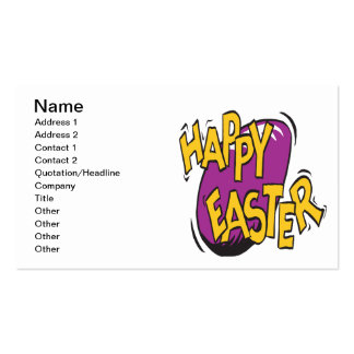 Happy Easter Business Card