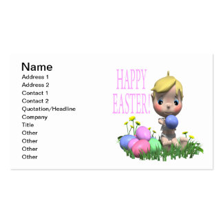 Happy Easter Business Card Template