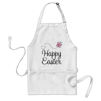 Happy Easter Butterfly Adult Apron