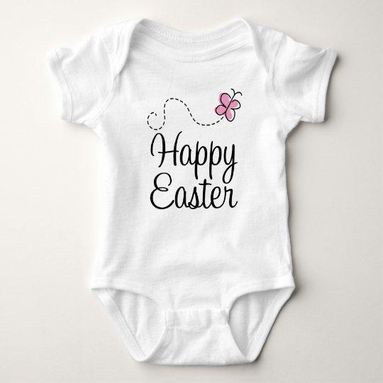 Happy Easter Butterfly Baby Bodysuit