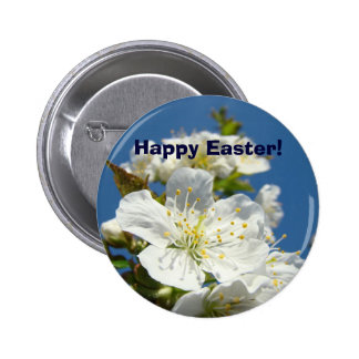 Happy Easter! buttons Cherry Blossoms Flowers