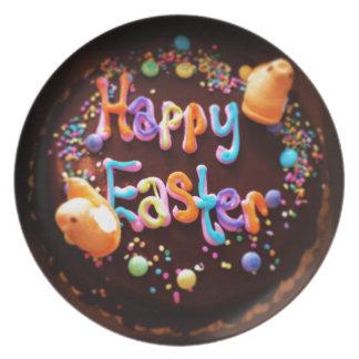 Happy Easter cake Dinner Plates