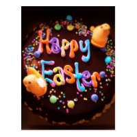 Happy Easter cake Postcard